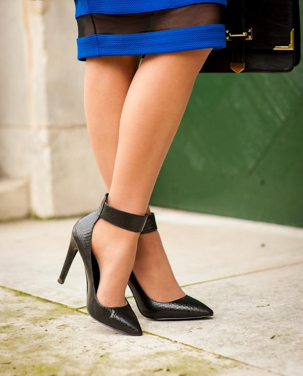 aldo shoes escarpin talon aiguille en cuir noir