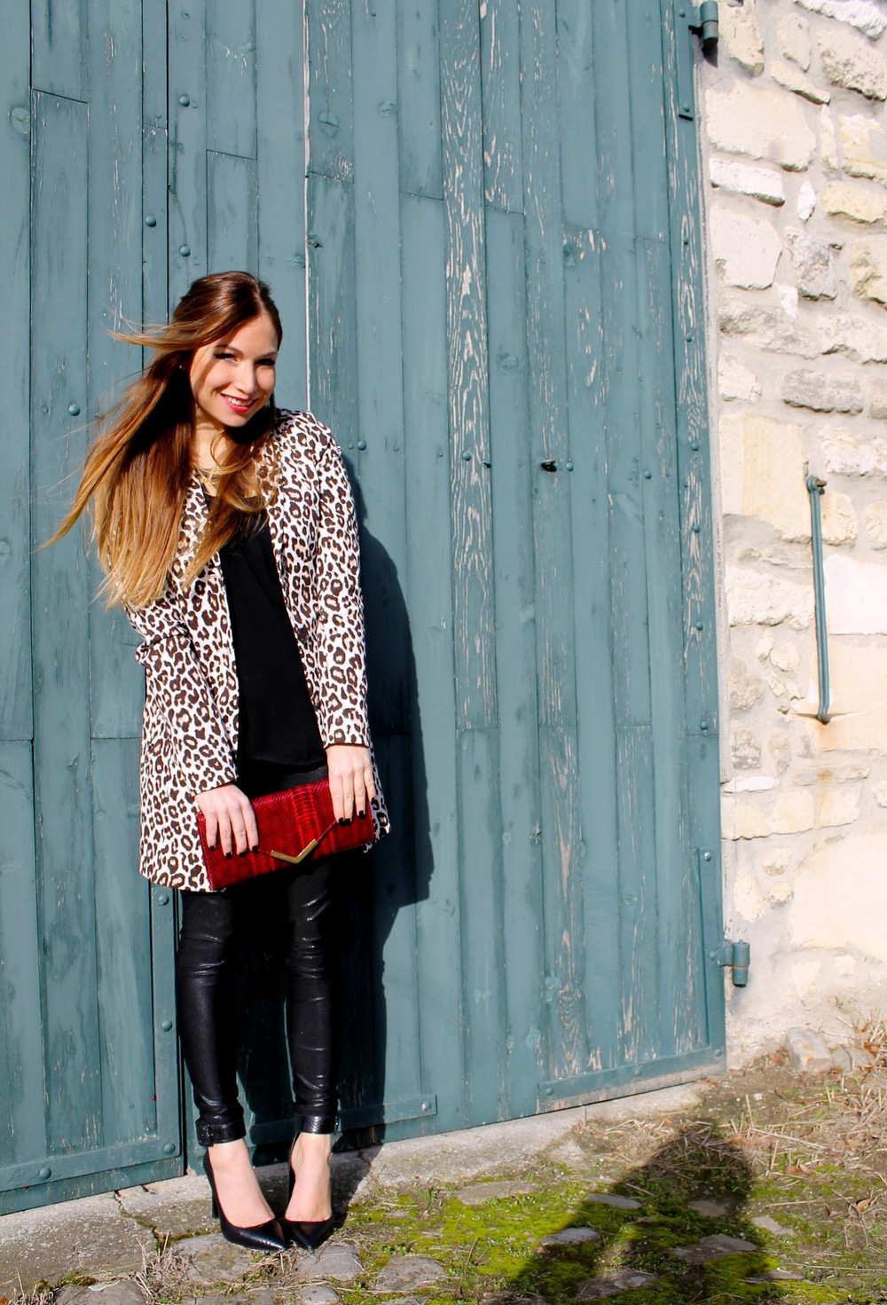 legging american apparel leopard jacket