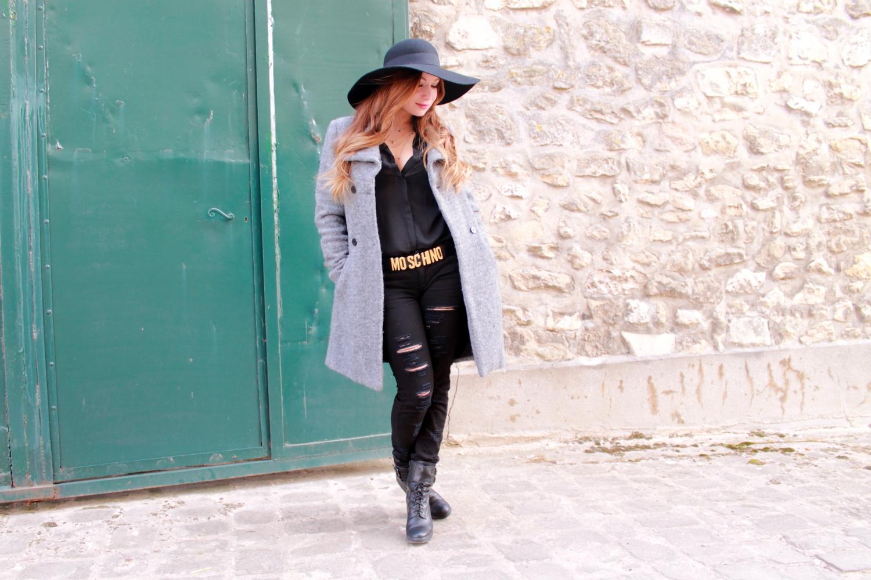Capeline H&m Veste Grise Zara