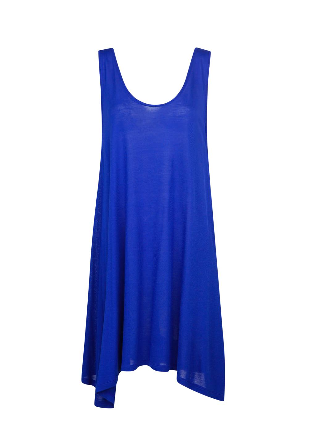 robe de plage fluide bleu roi mango