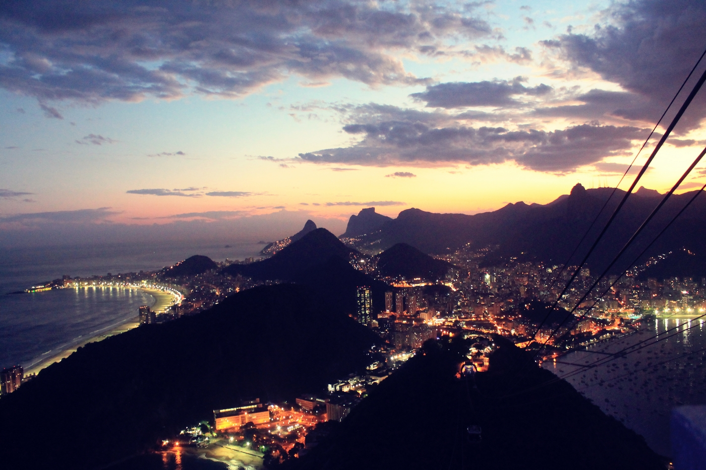 pao de azucar rio by night beautiful view of rio