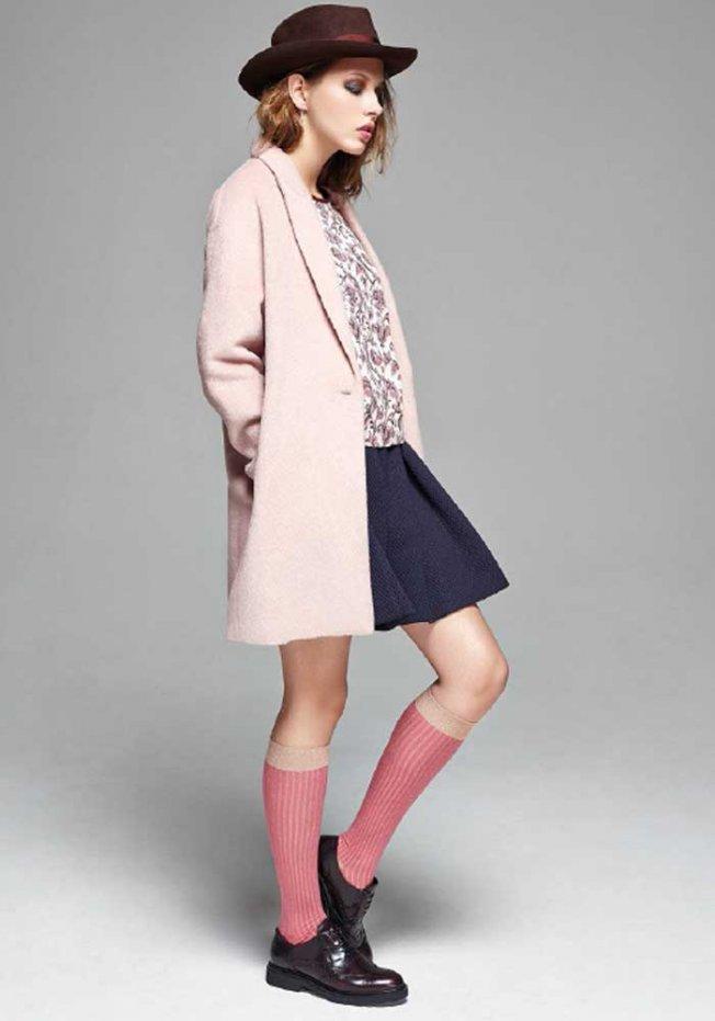 manteau rose poudré tendance 2014 blog mode