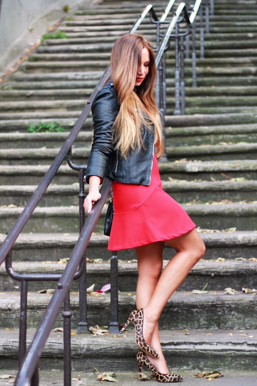 robe rouge fashion blog mode