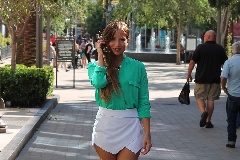 blouse verte zara