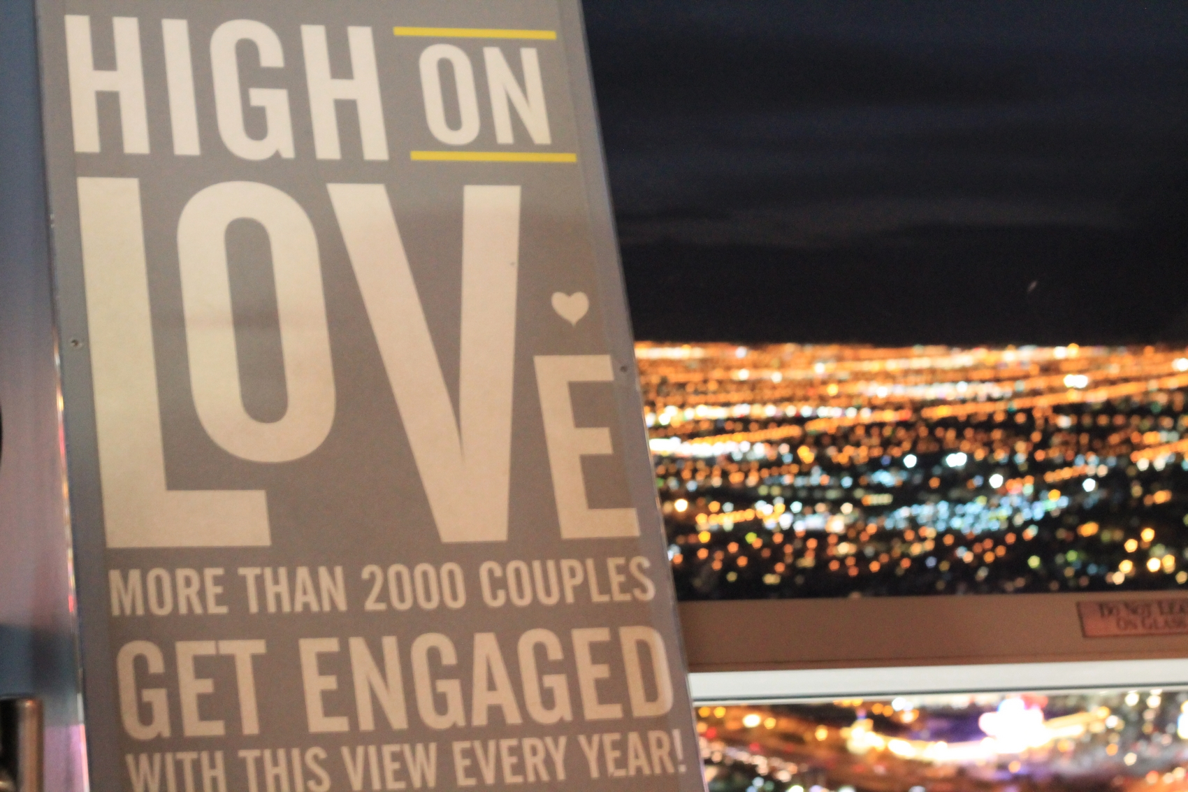 high love on top stratosphere view hotel