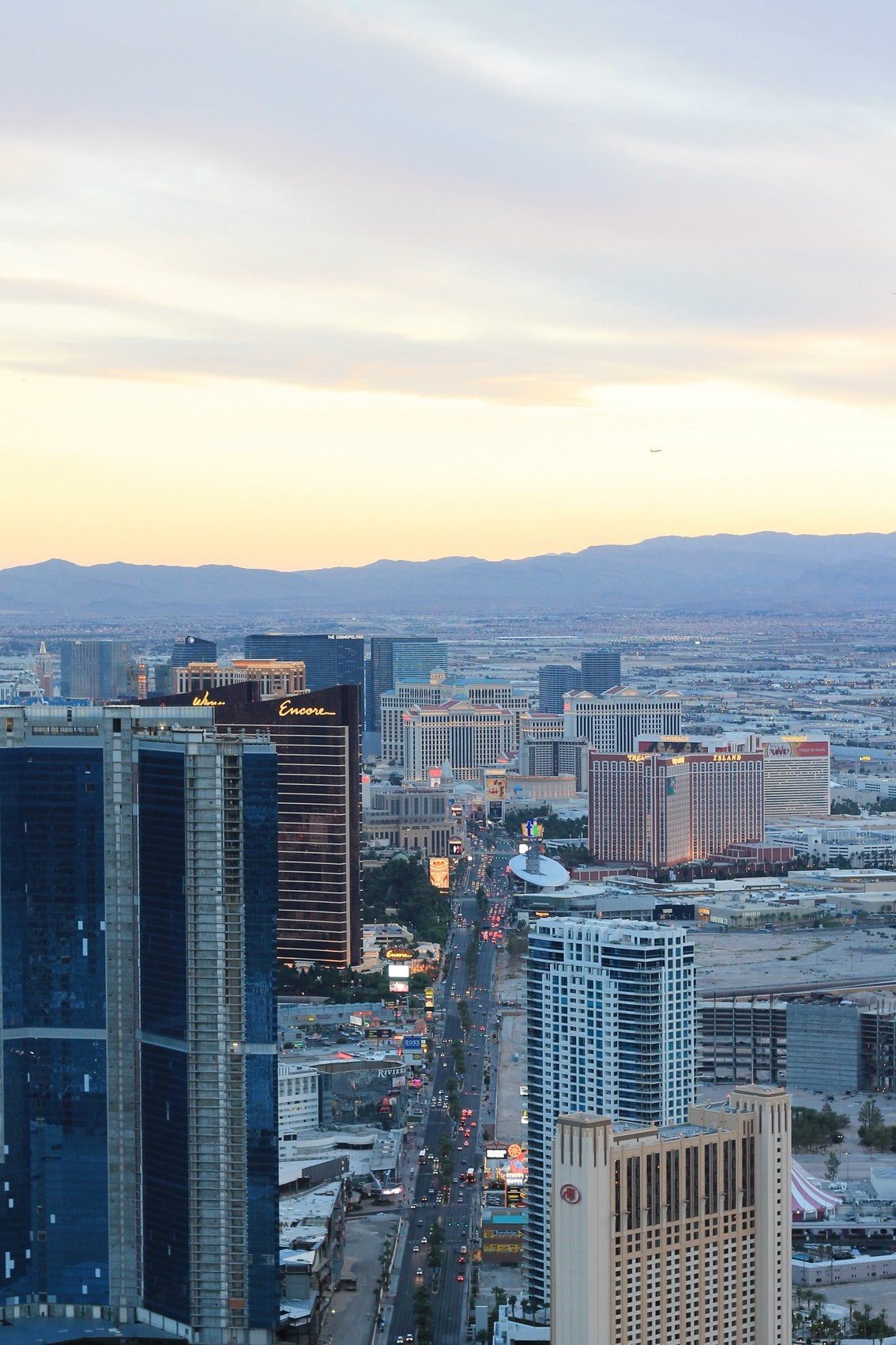 las vegas from the top stratosphere hotel fashion & lifestyle blog