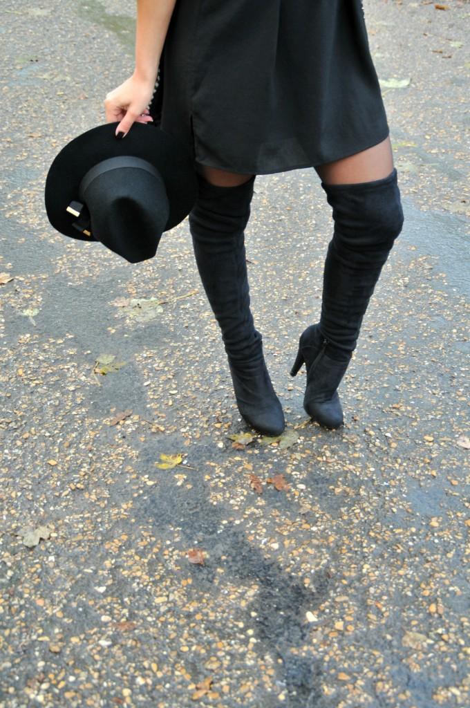 cuissardes stetch en daim talon haut vintage blog mode over knee boots fashion blog la. Black Bedroom Furniture Sets. Home Design Ideas