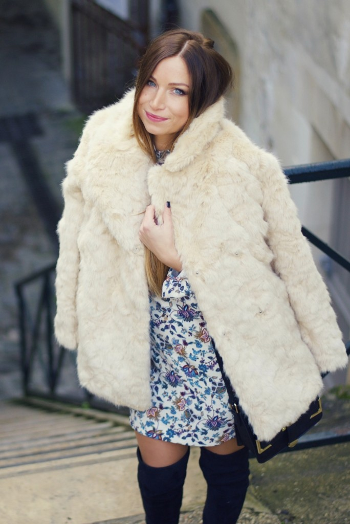 photos officielles 7b0c3 2d0ae manteau en fausse fourrure beige zara lookbook blog mode ...