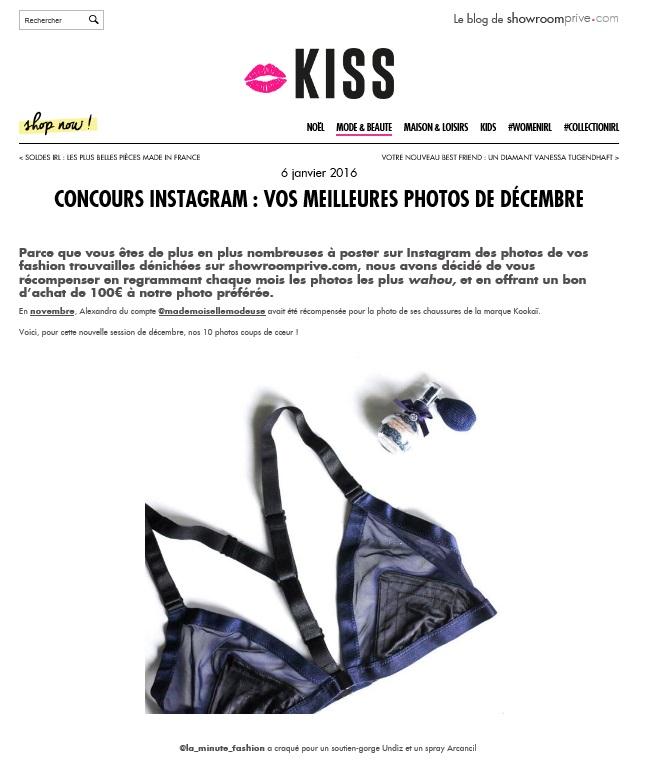 parution blog kiss by showrromprive