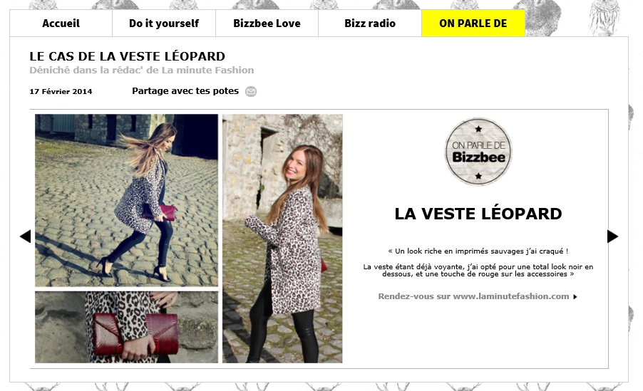 parution web la minute fashion bizzbe