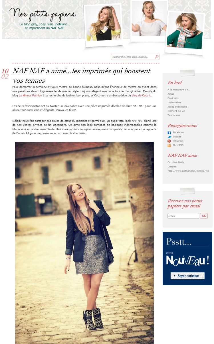 parution web la minute fashion blog naf naf