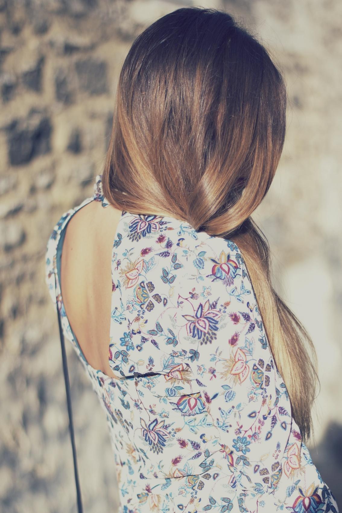 robe trapeze imprimé fleurs inspiration sixty