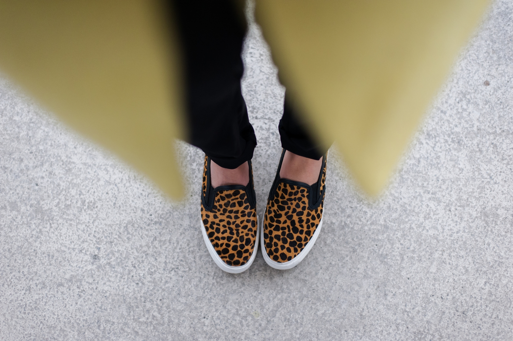 basket slip on leopard