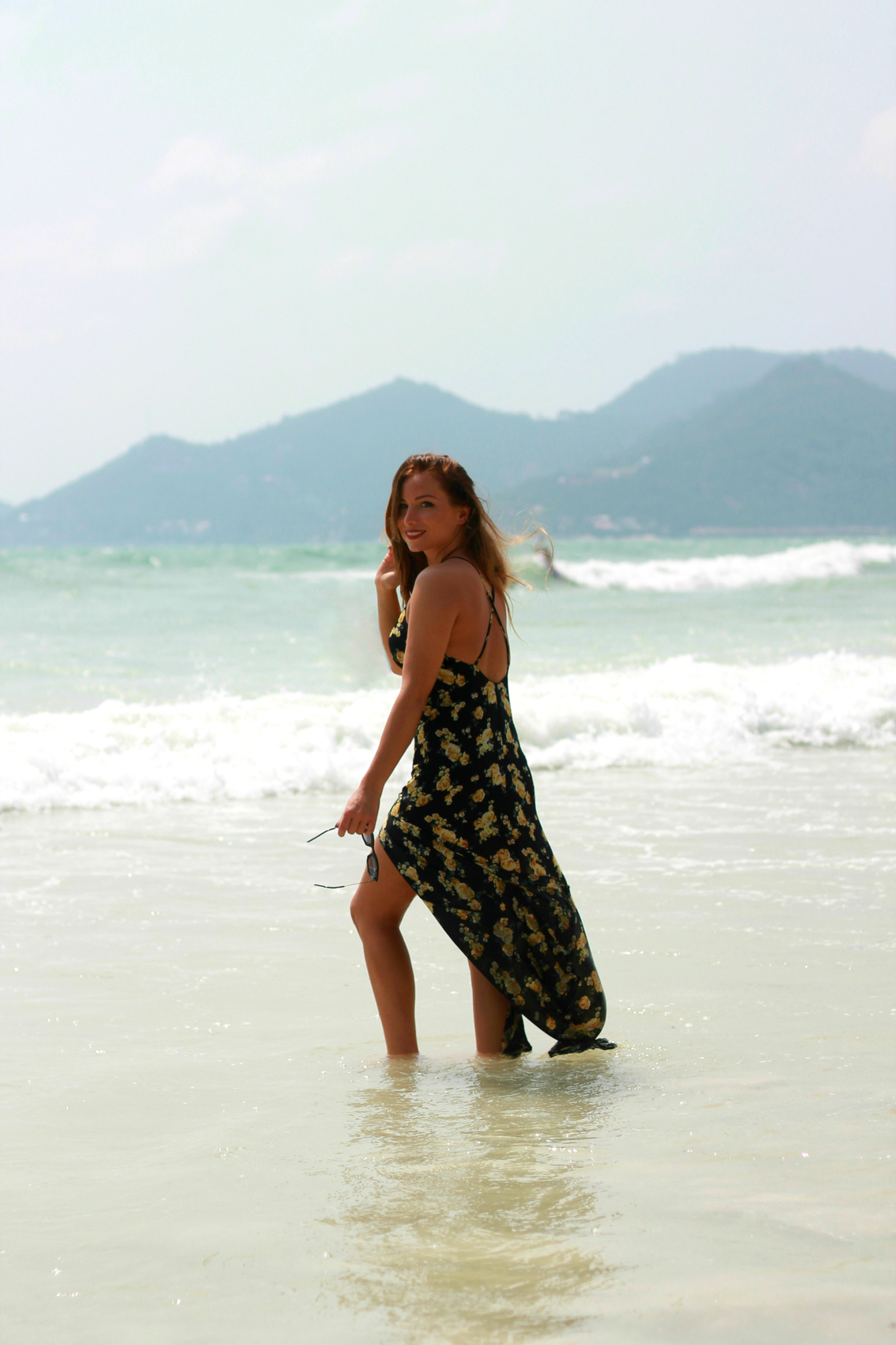 open back long dress fashion blog lifestyle thailand beach