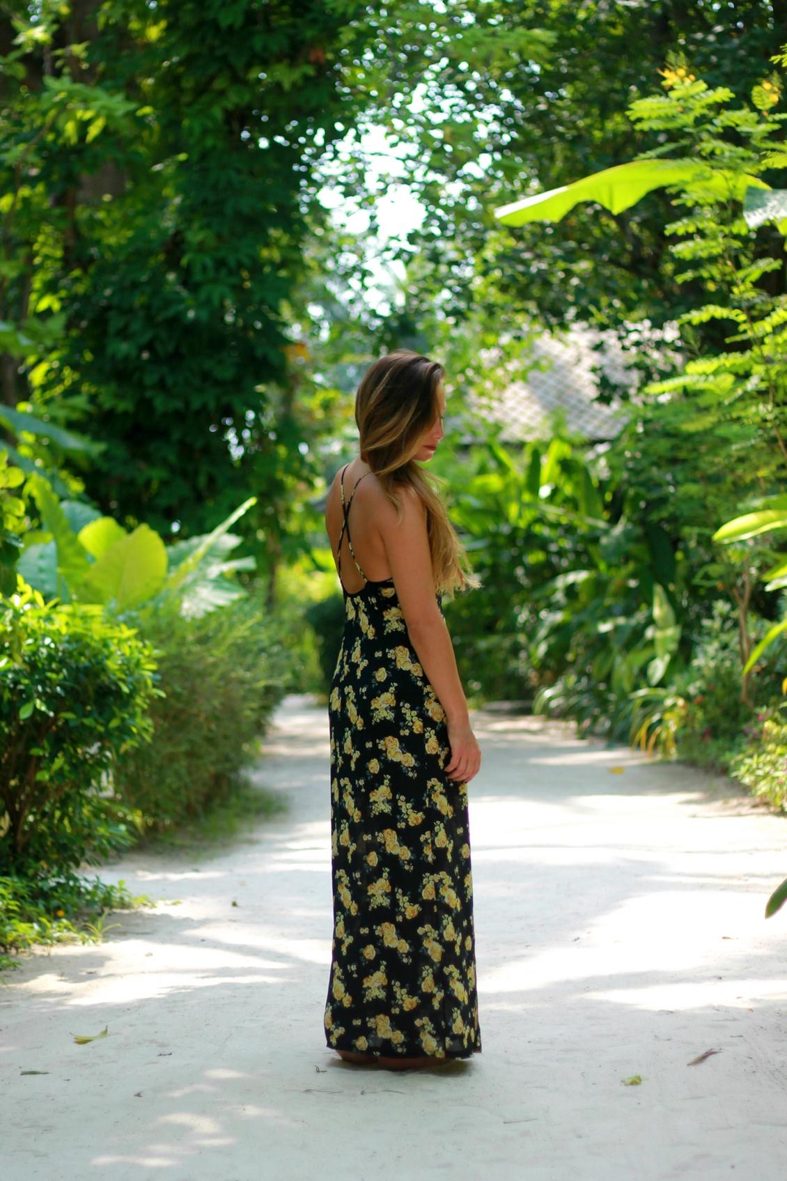 robe longue dos nu à fleurs forever21 blog mode lifestyle