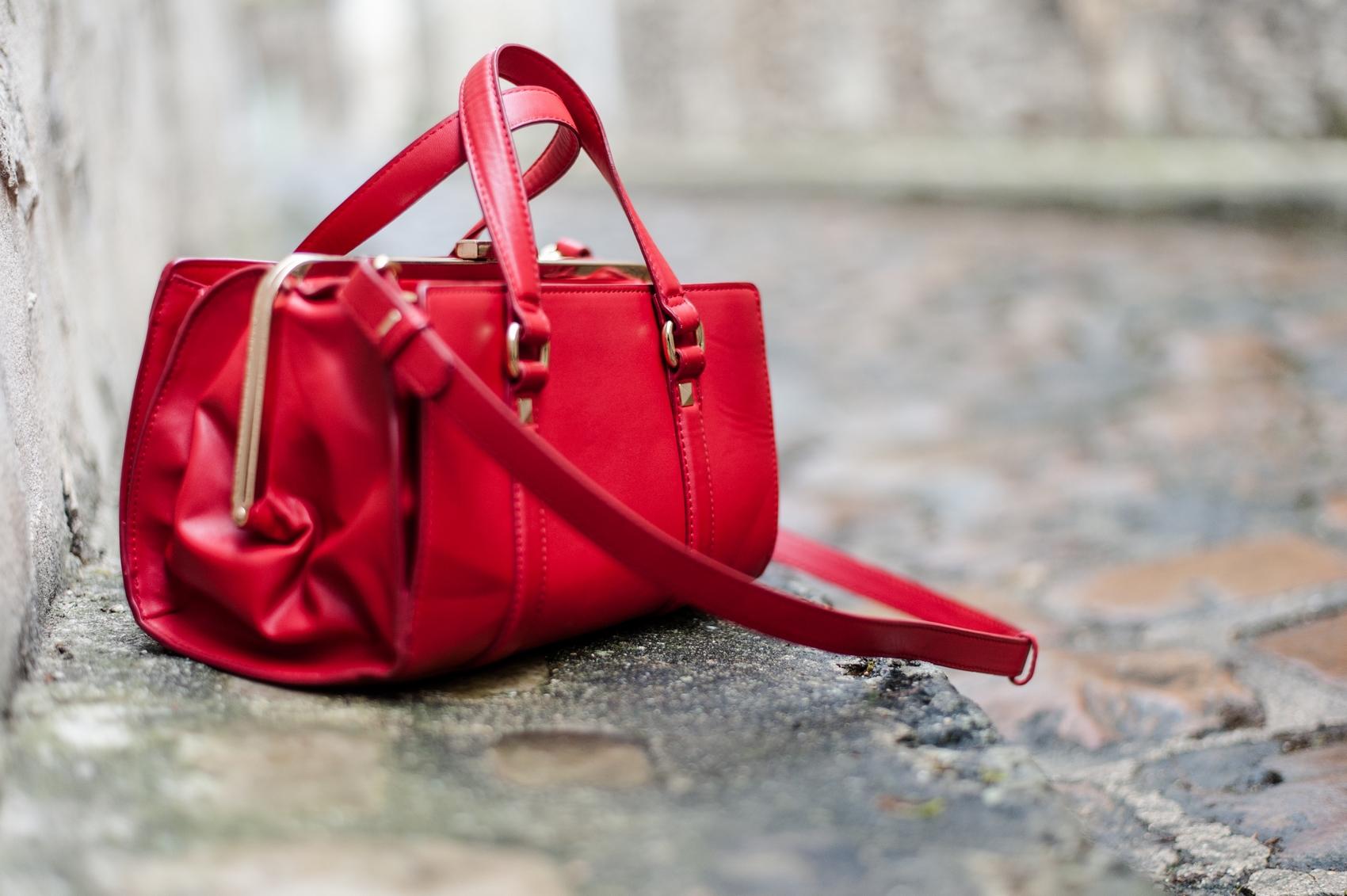 zara leather red bag sac rouge