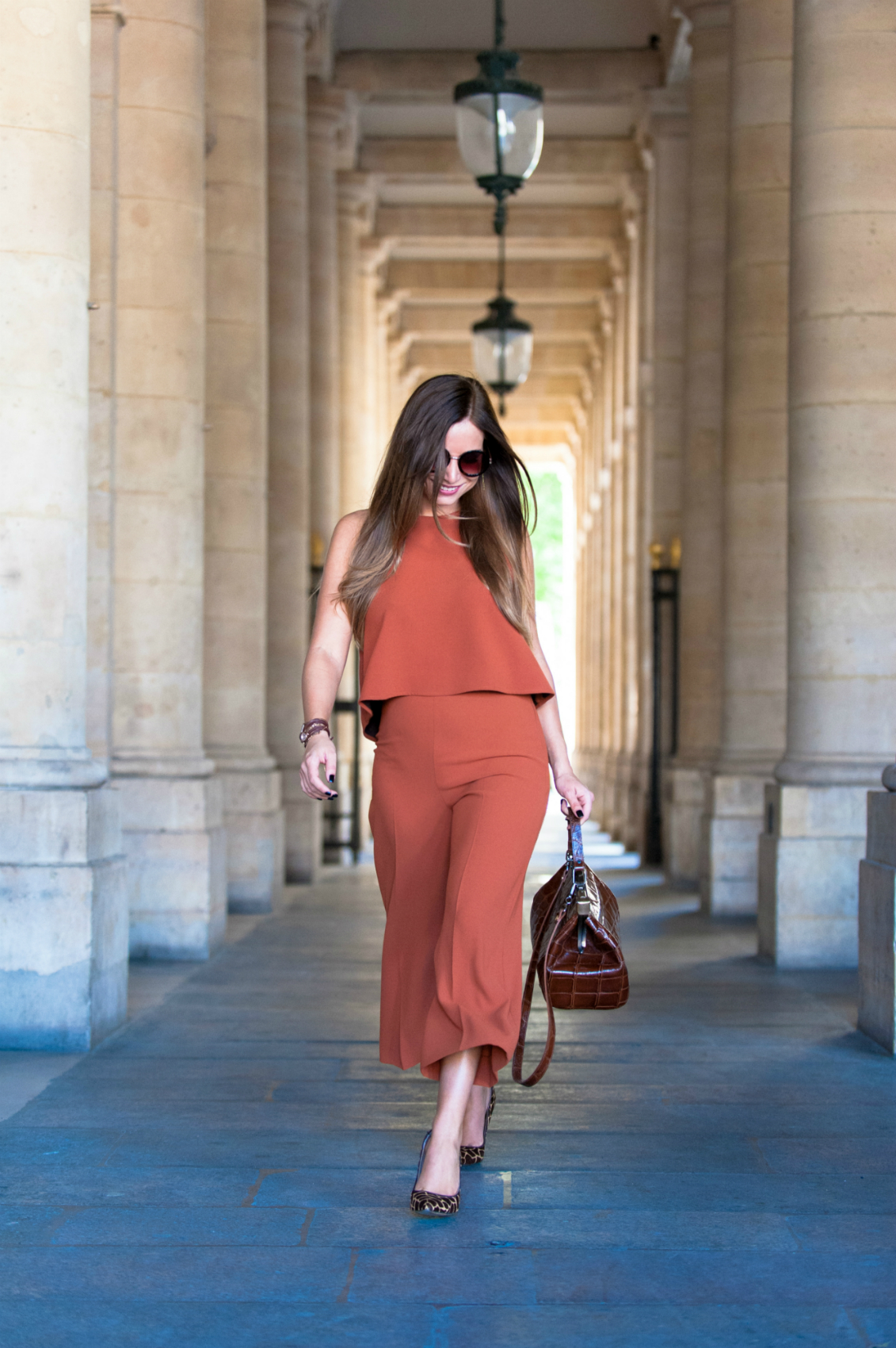 look inspiration seventies fashion blog palazzo pant and crop top