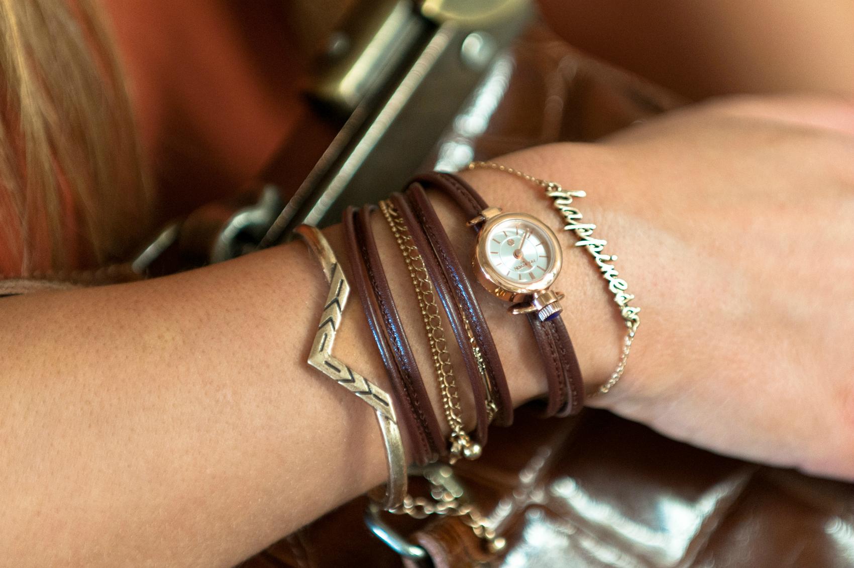 montre bracelet en cuir marron nomination italy collection time