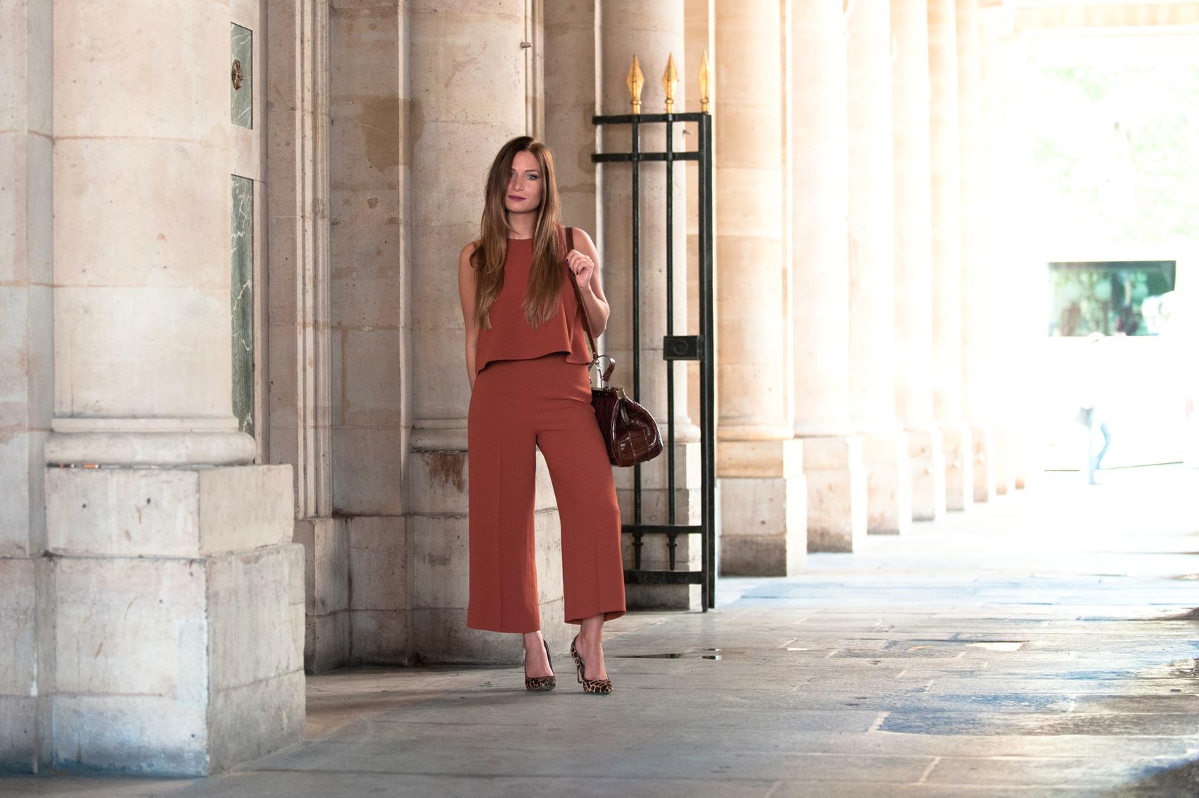 top orange tuile et pantalon assorti zara new collection
