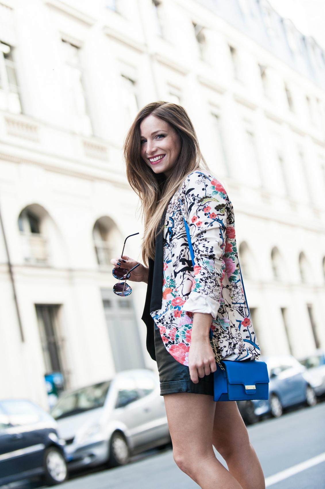blazer imprimé japonisant sheinside style kimono