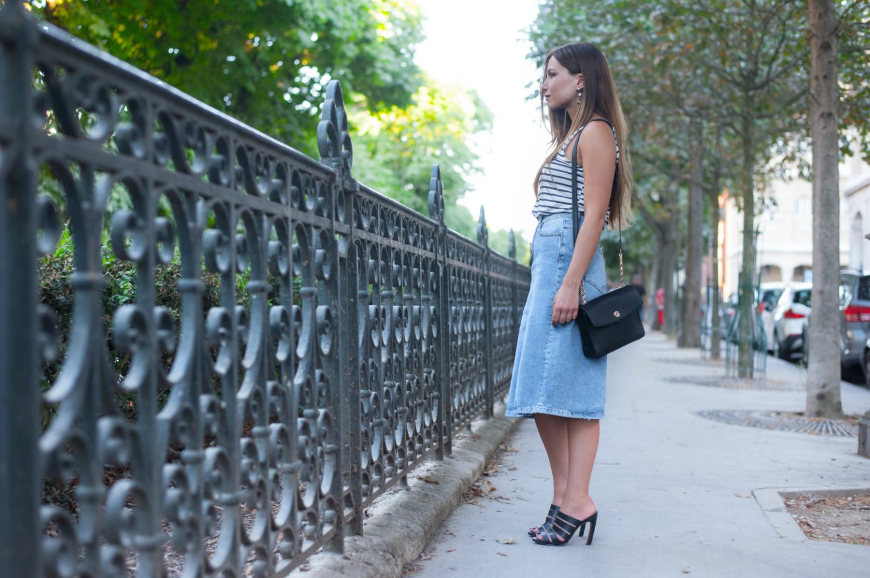Look de soldes 1 : la jupe en jean rétro