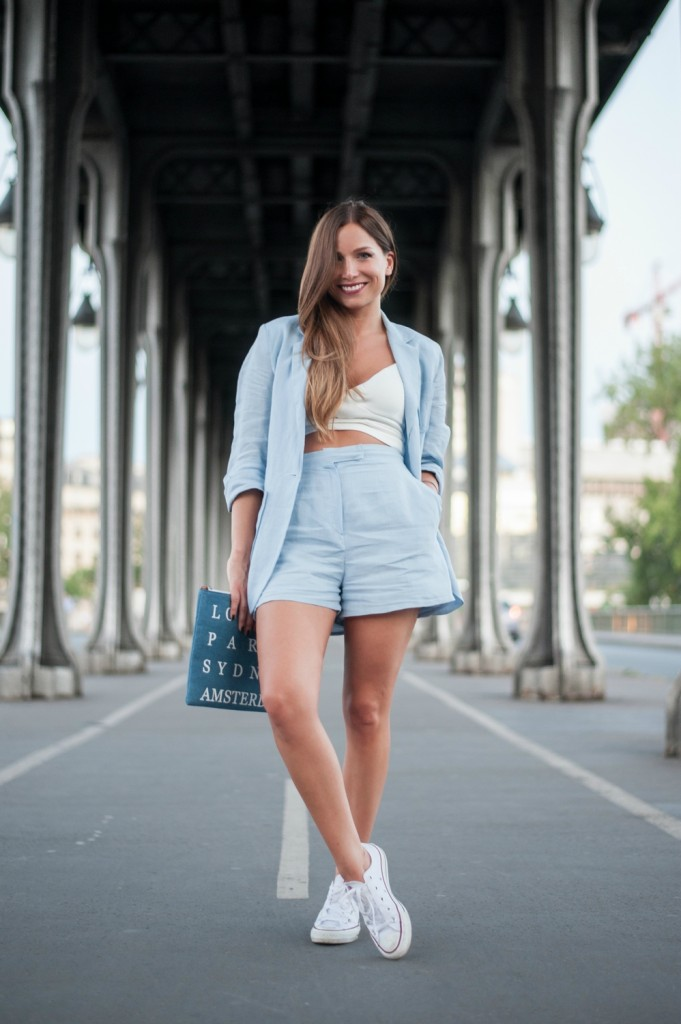 converse blanche femme look
