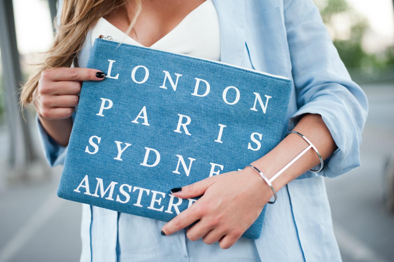 pochette en jean denim villes manchette forever21