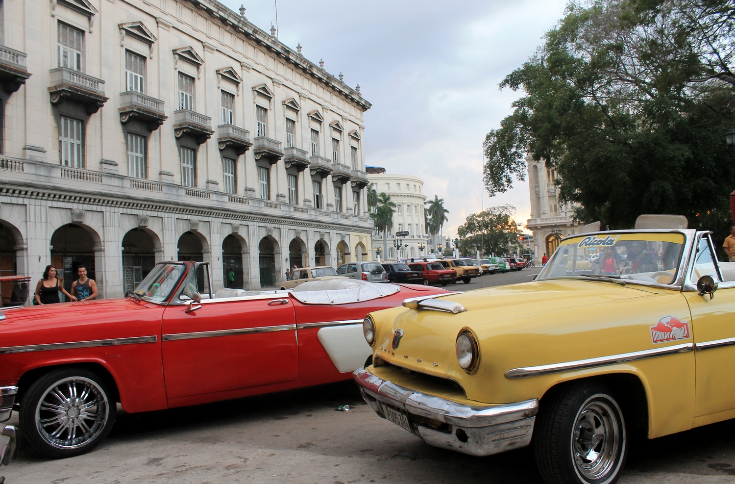 voiture americaine parque central cuba