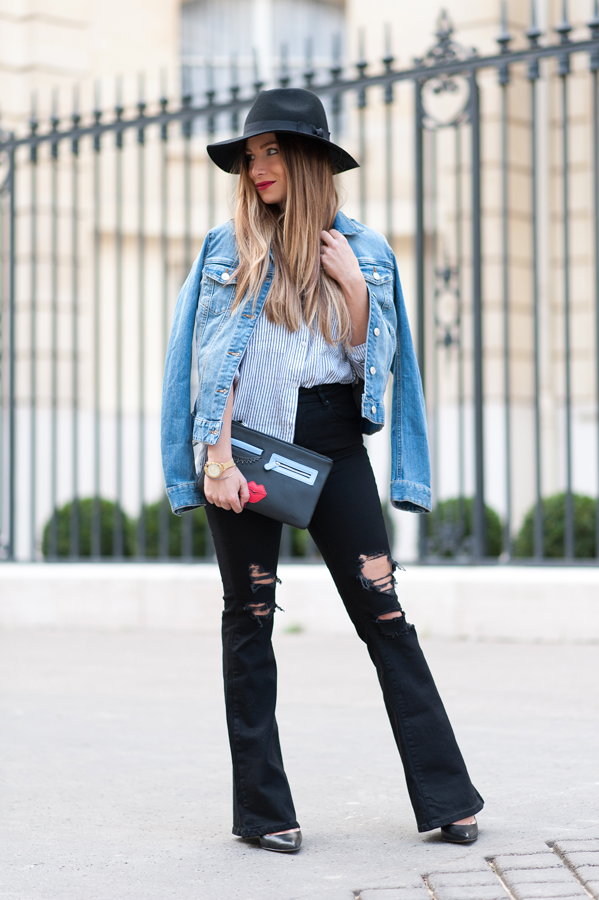 cool way to wear the flare jean fashion blog