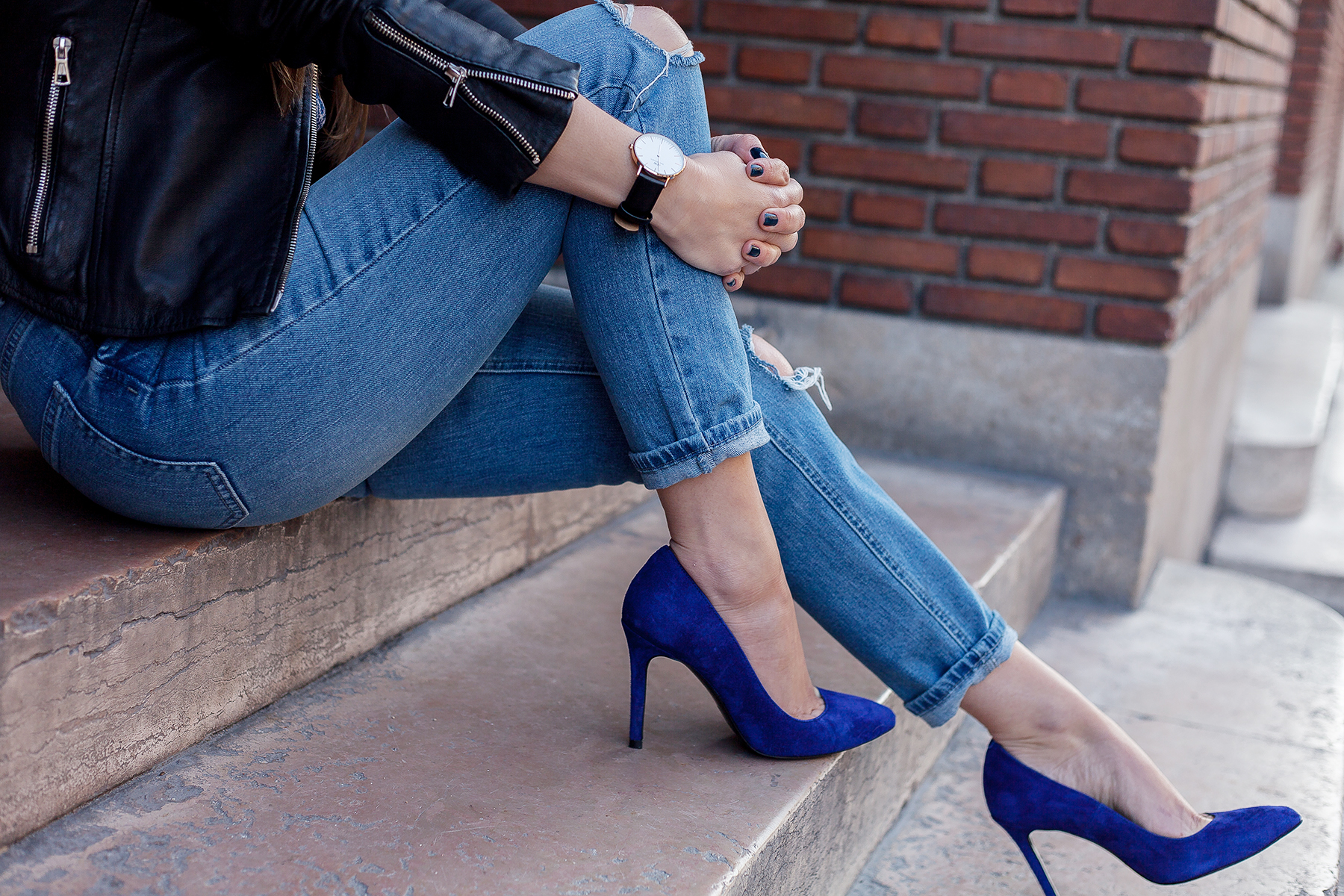 daniel wellington watch blue stiletto heels ted and muffy