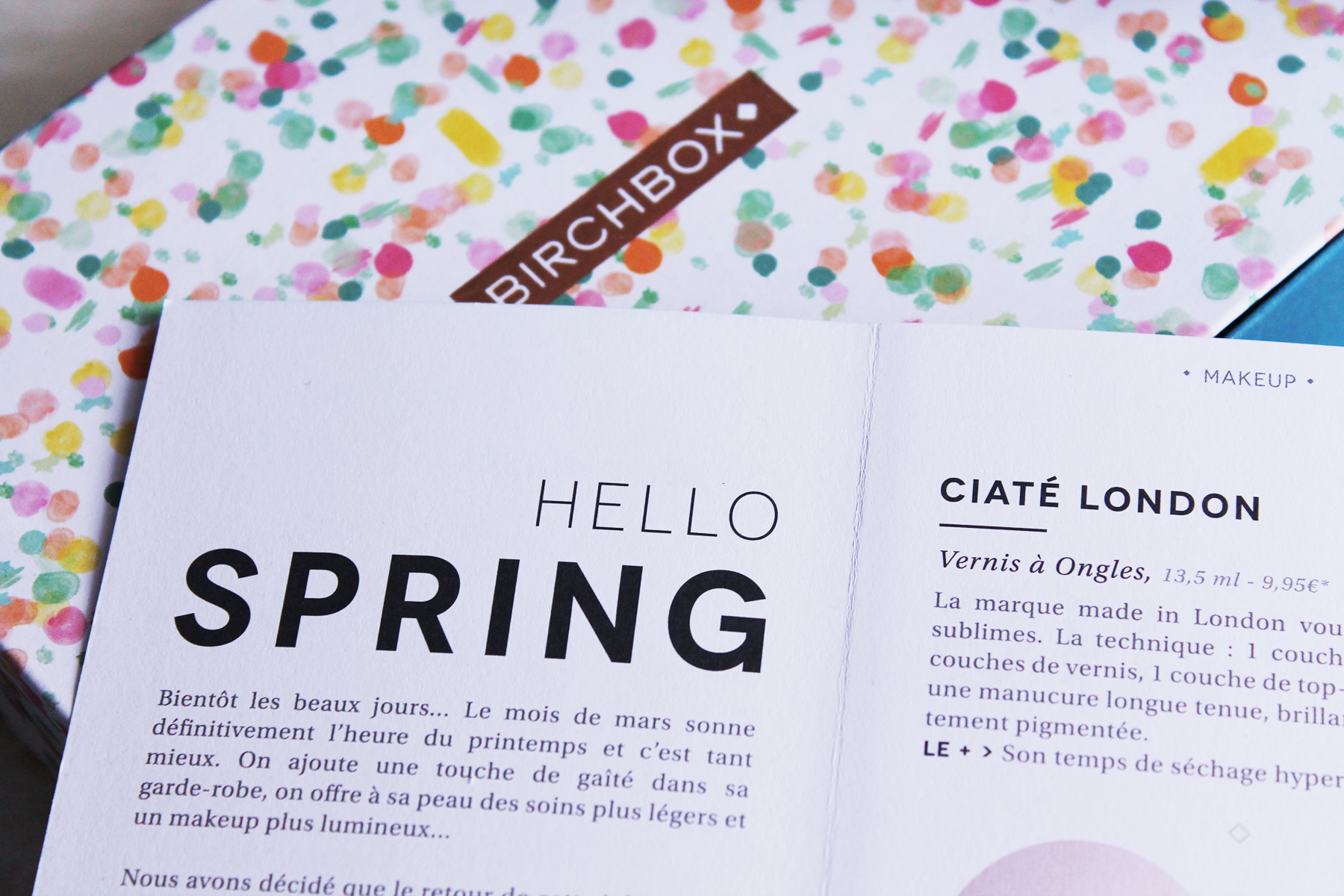 hello spring box mars 2016