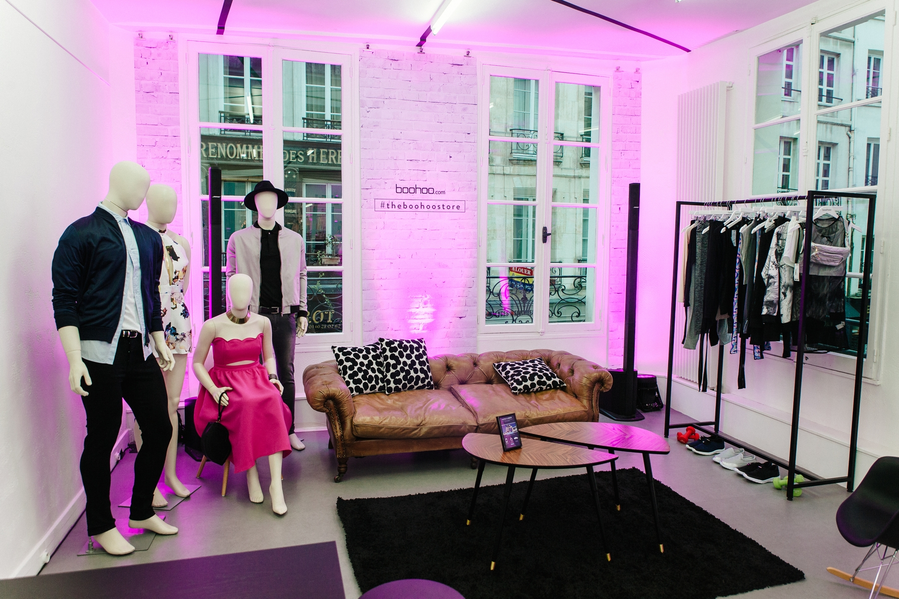 boohoo pop up store paris