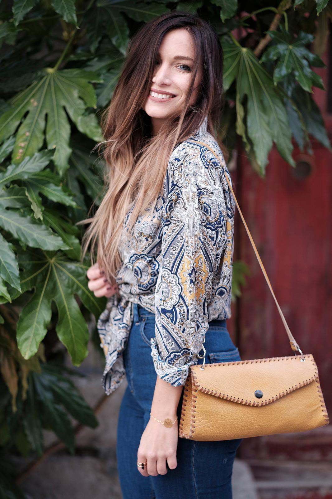 Chemise en soie blog mode