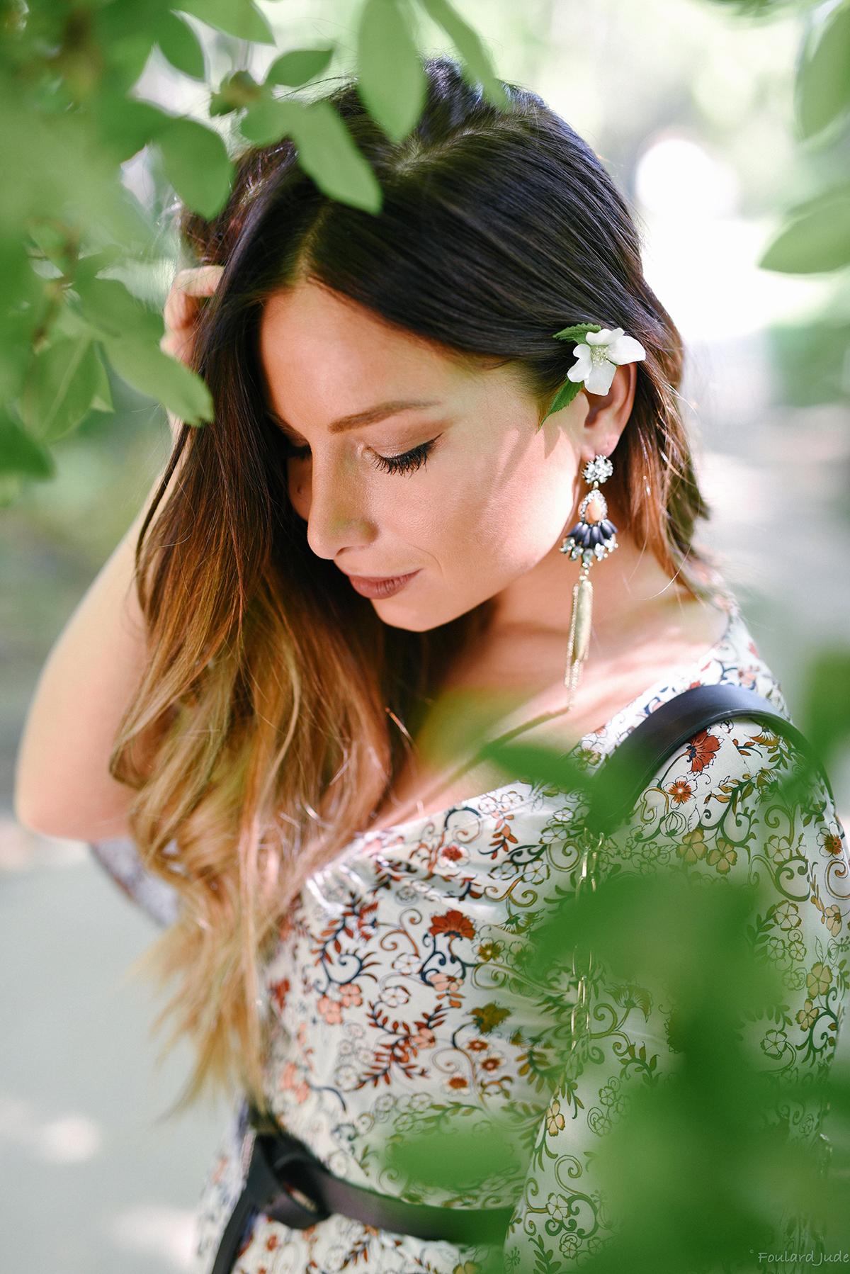 idée coiffure fleurs blog mode