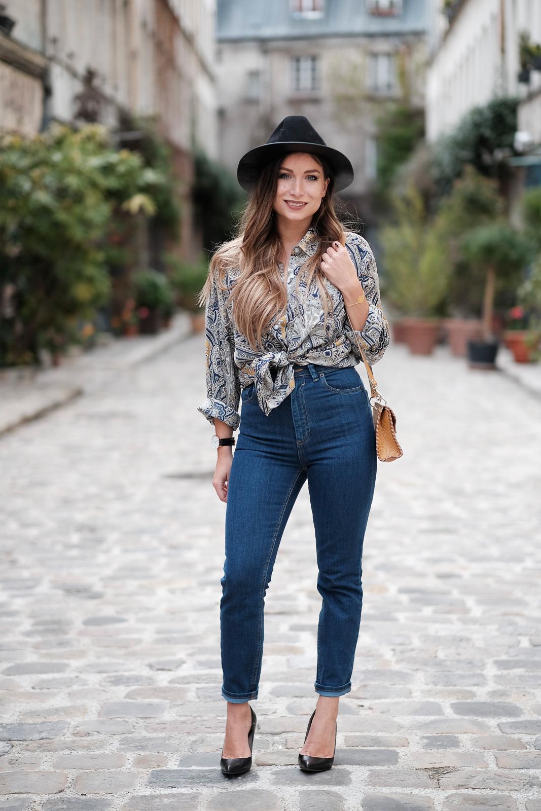 look chic decontracte en jean blog mode