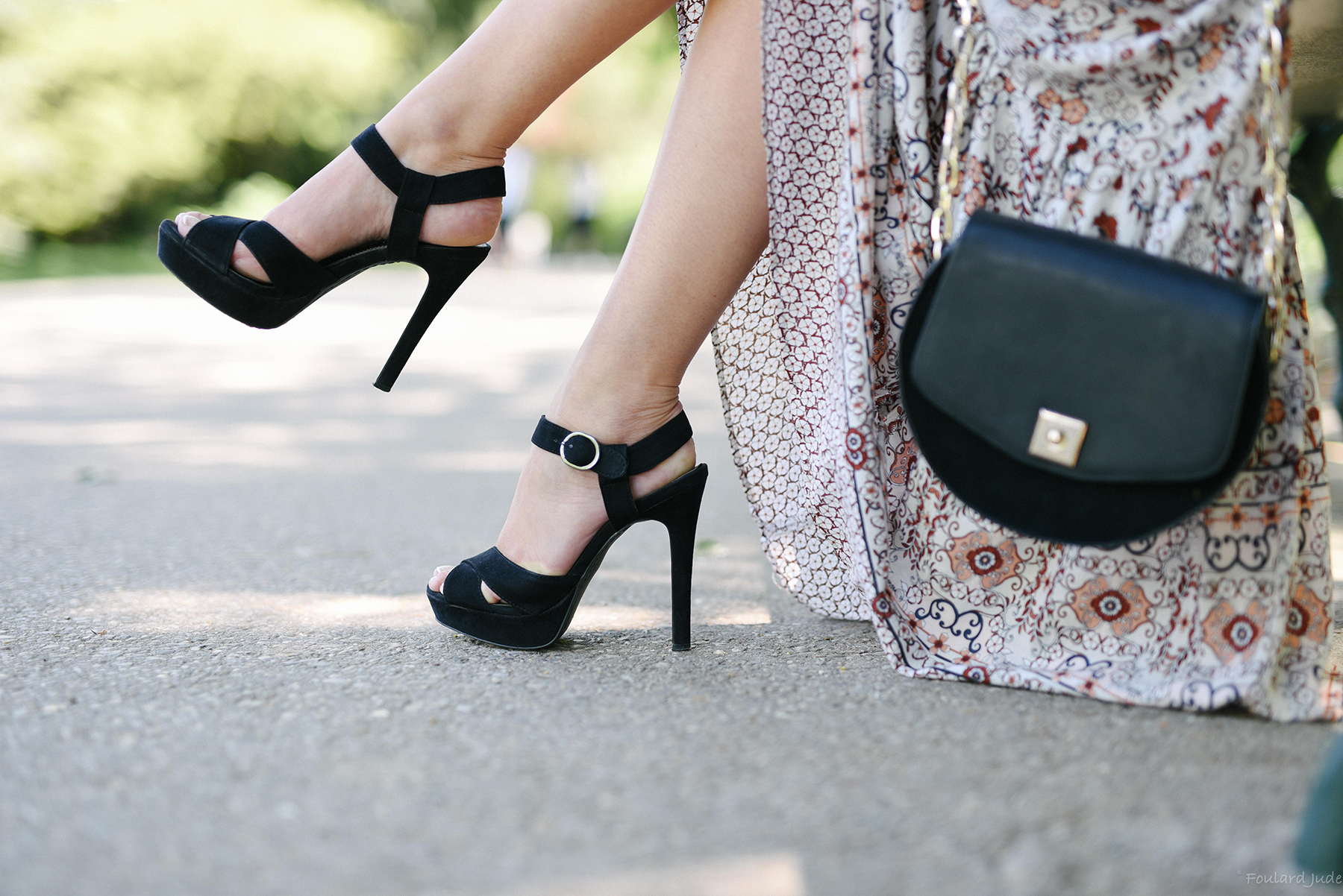 sandales à plateaux noir zara high heels