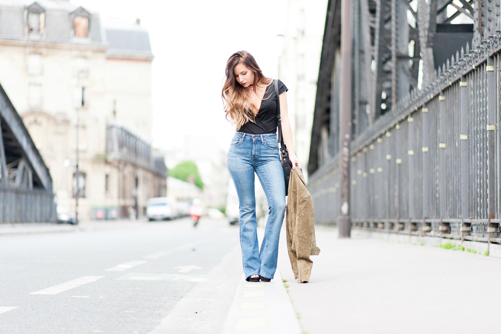 comment porter le jean flare pattes d'ef