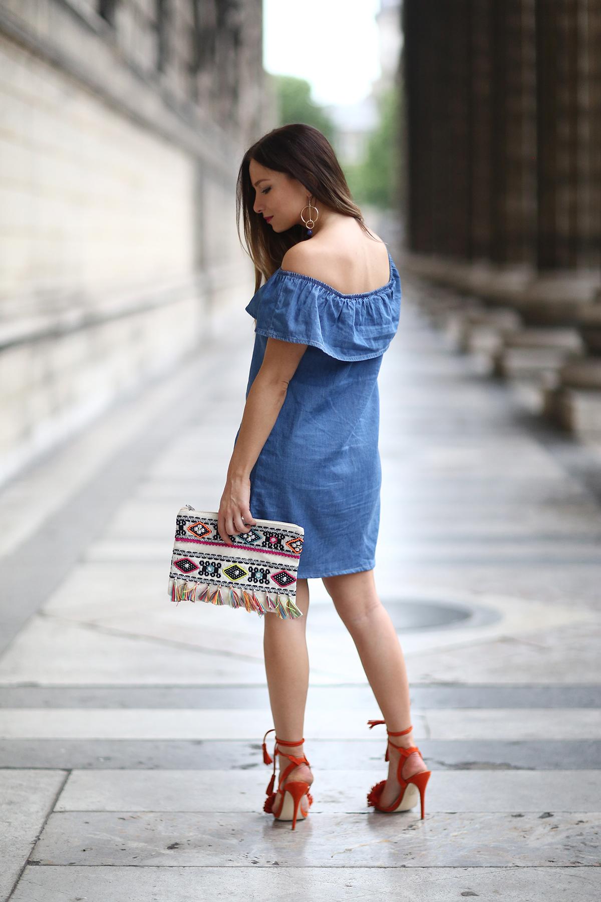denim dress fashion blog
