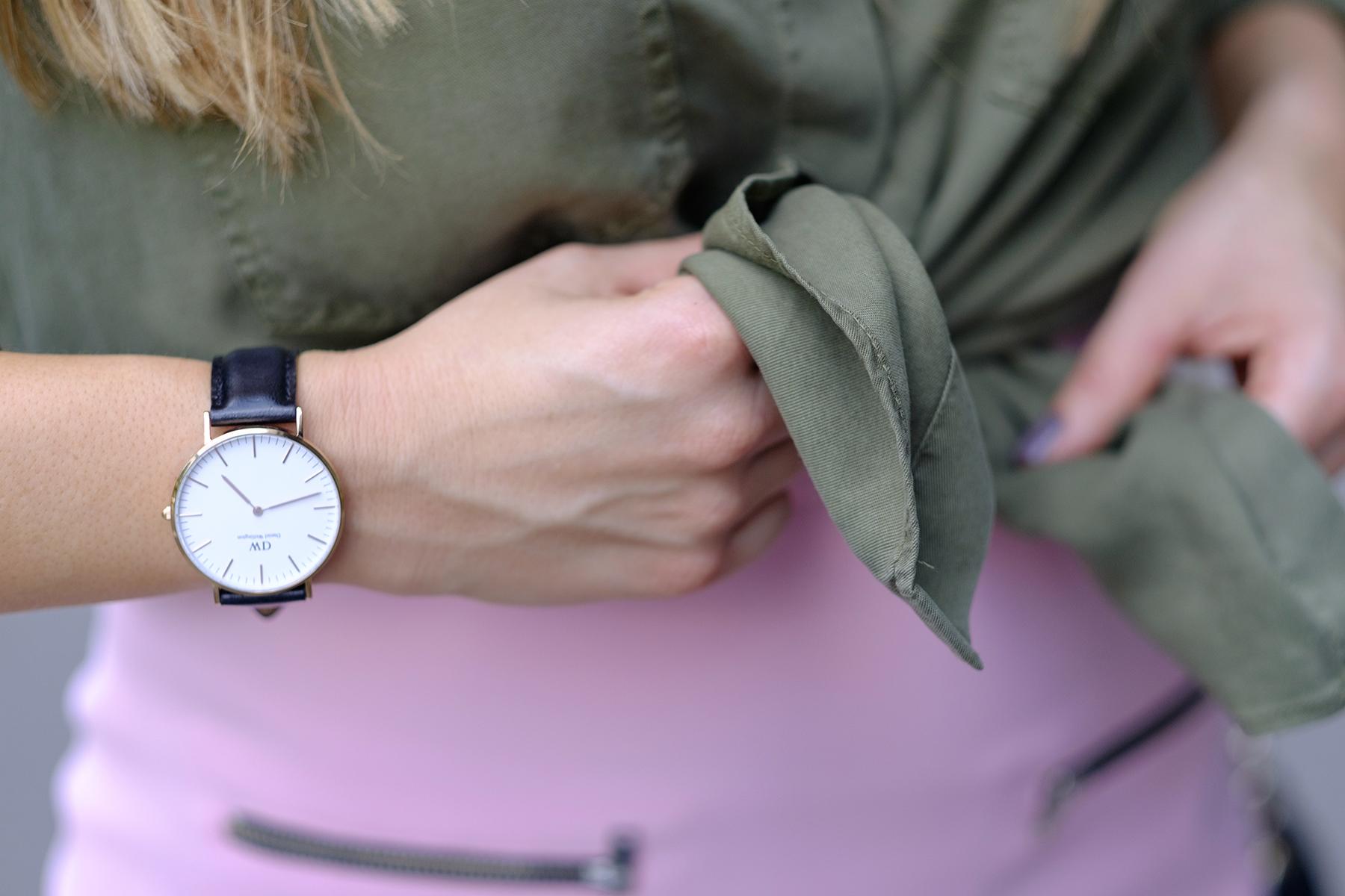 montre daniel wellington bracelet cuir noir classic shelffield