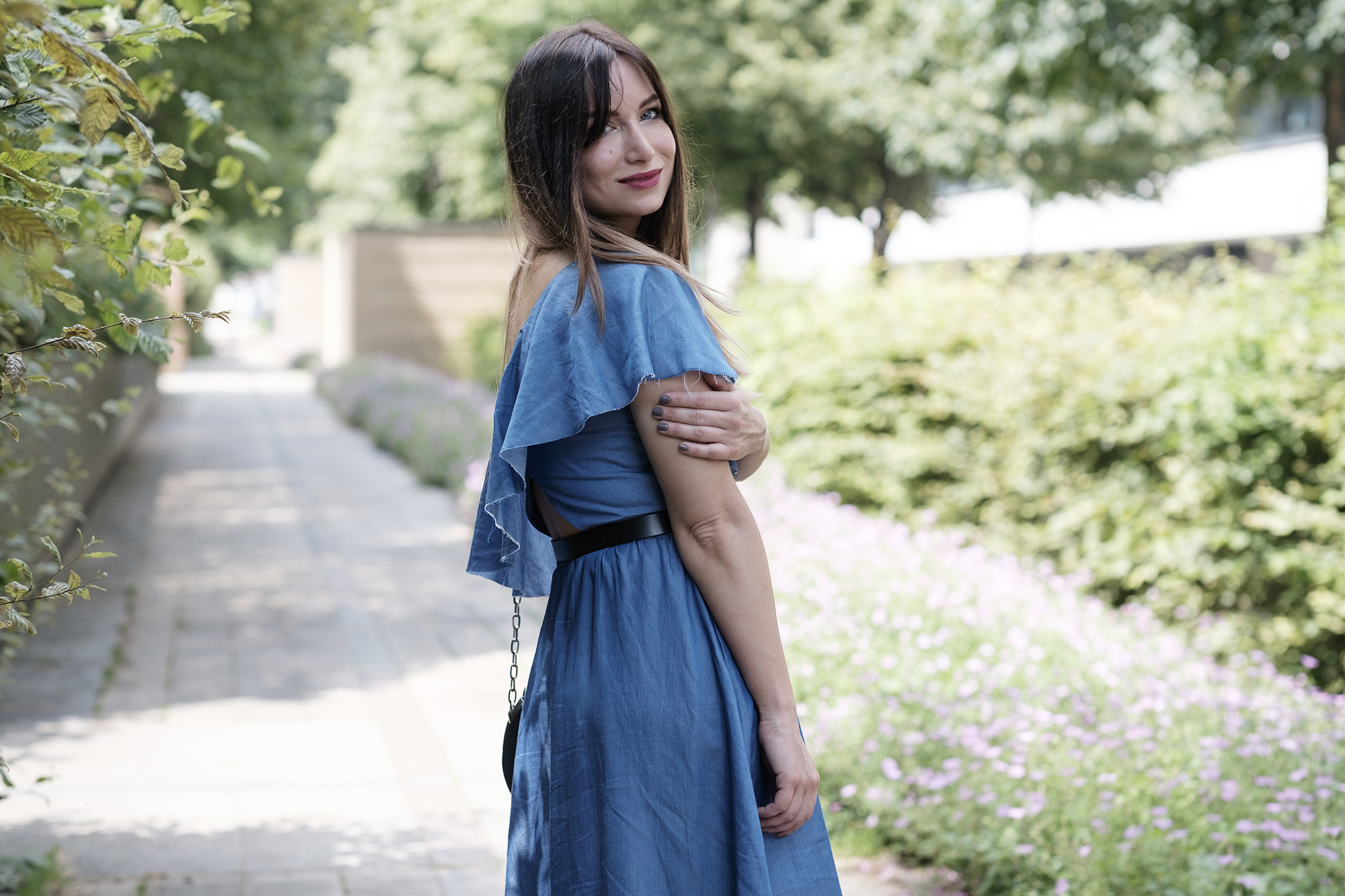 robe denim zara