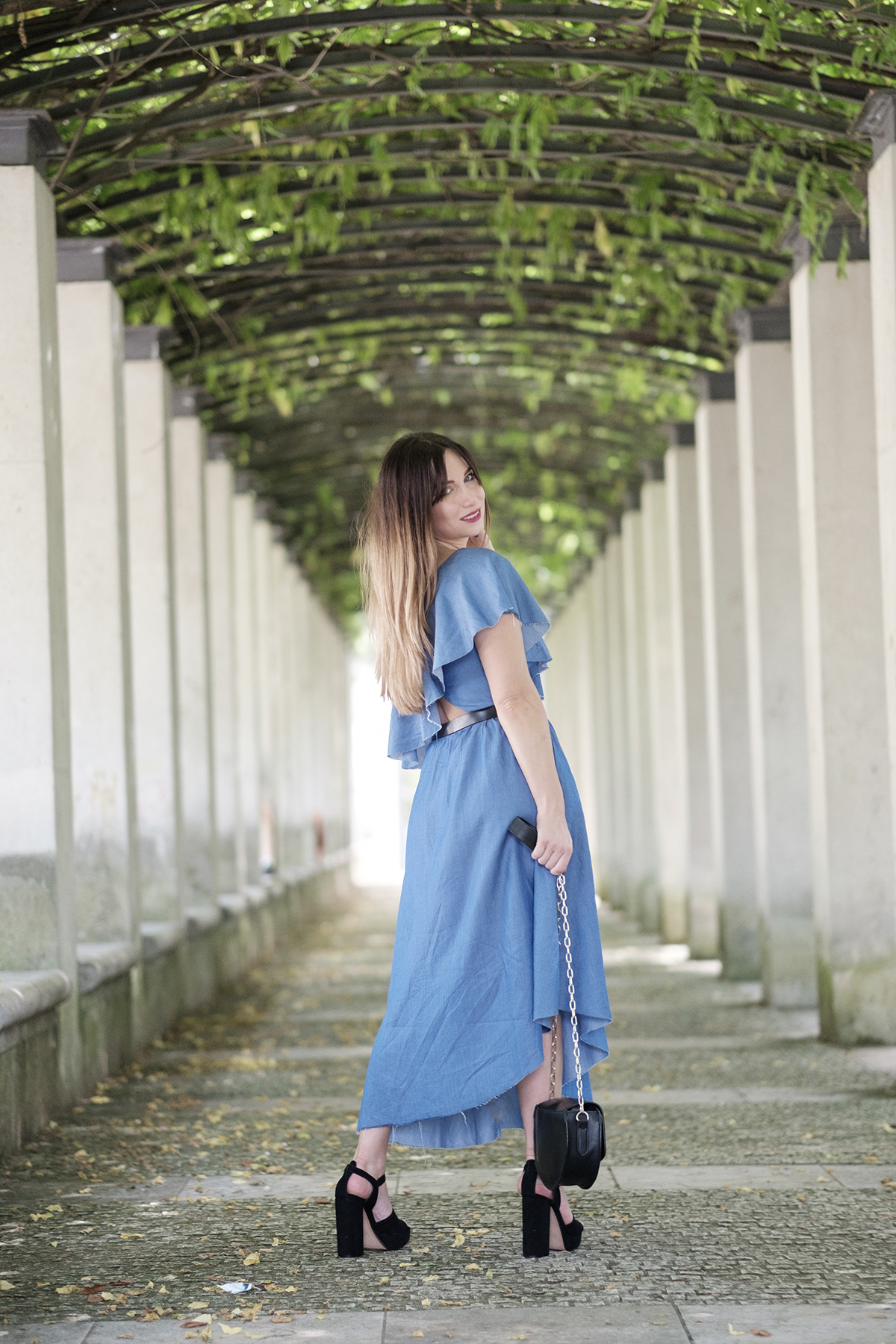 robe en jean asymétrique collection i am denim zara