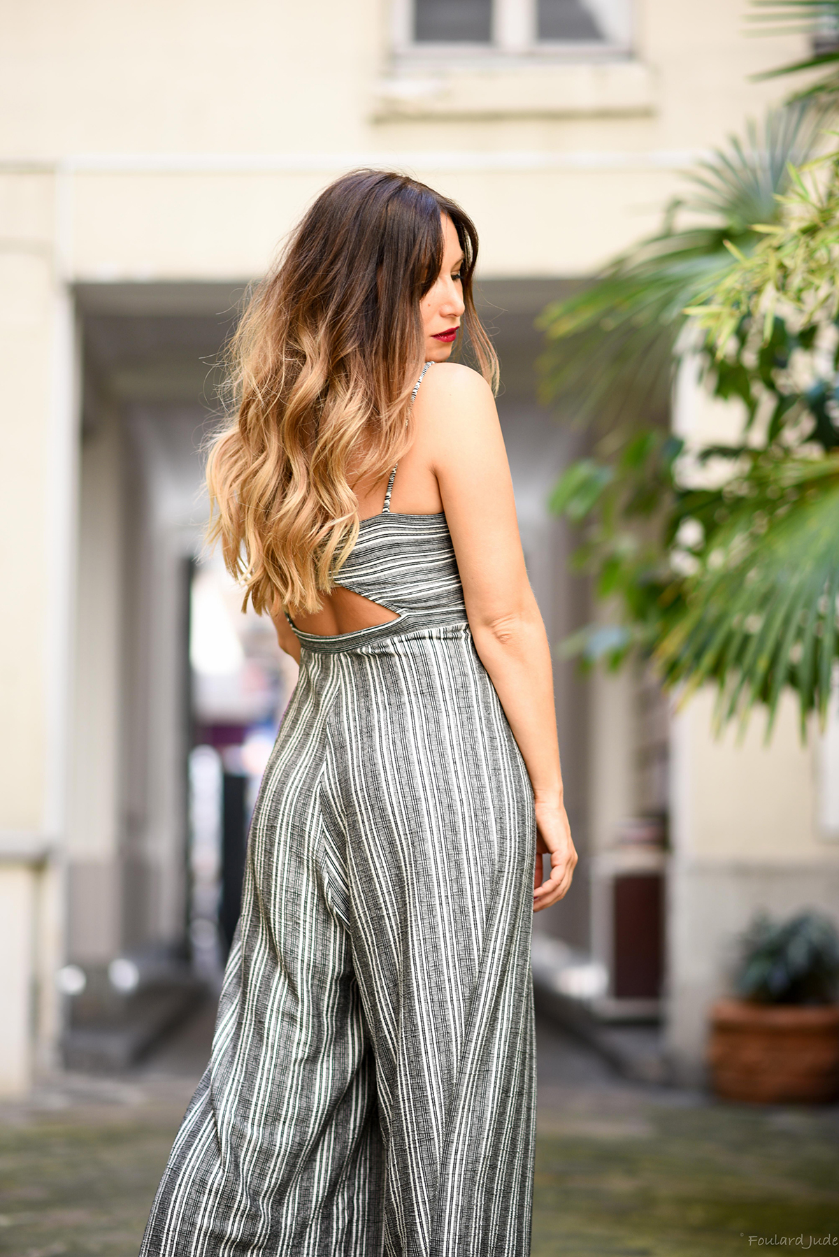 how to wear the stripe jumpsuit fashion blog