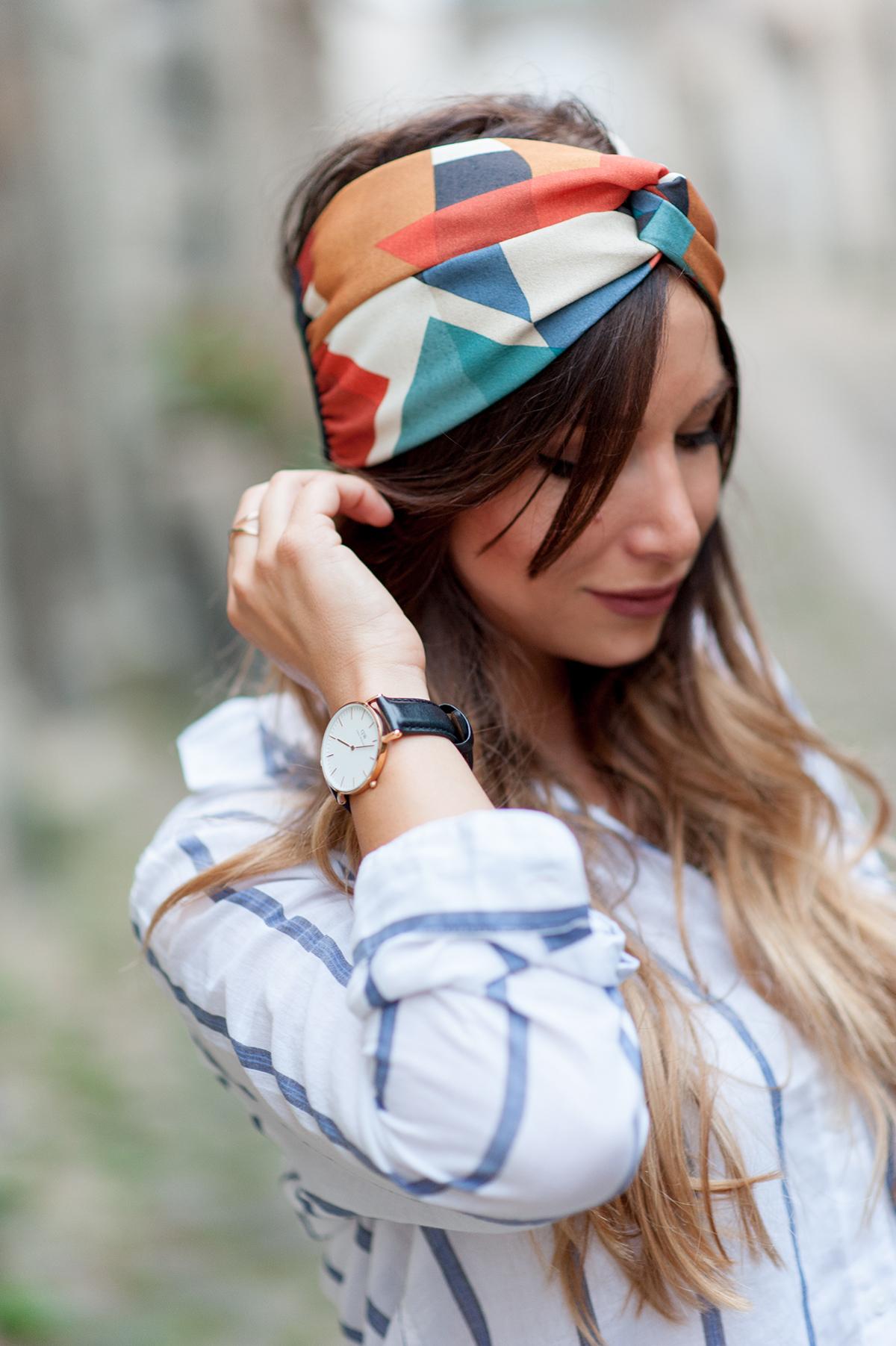 turban style seventies Indira de Paris