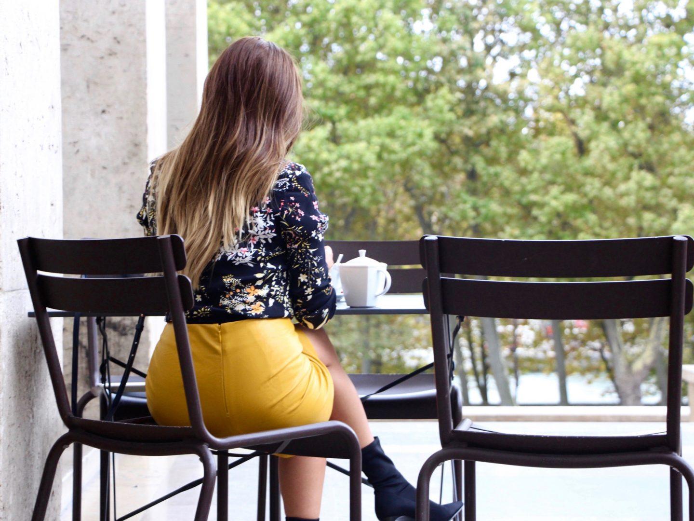 Mustard yellow </br>La jupe jaune moutarde