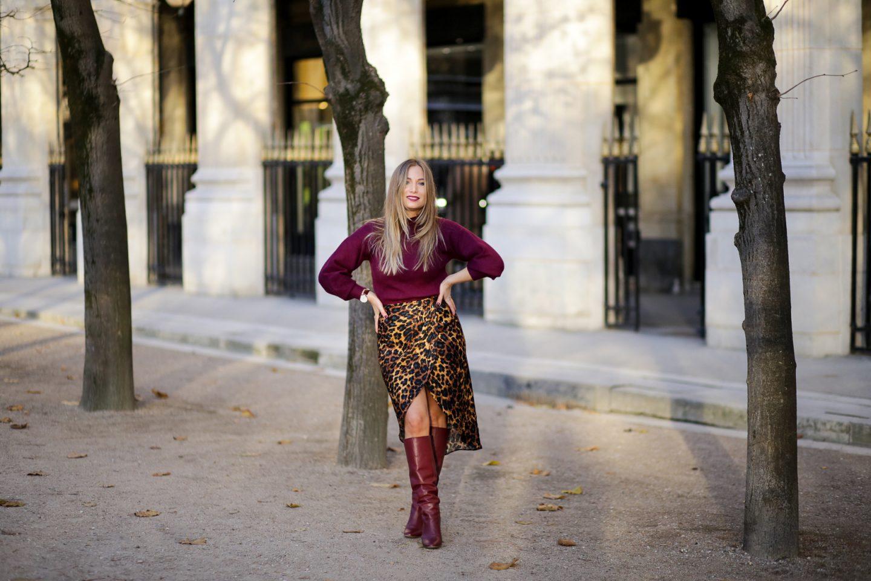 Comment porter la jupe léopard ?