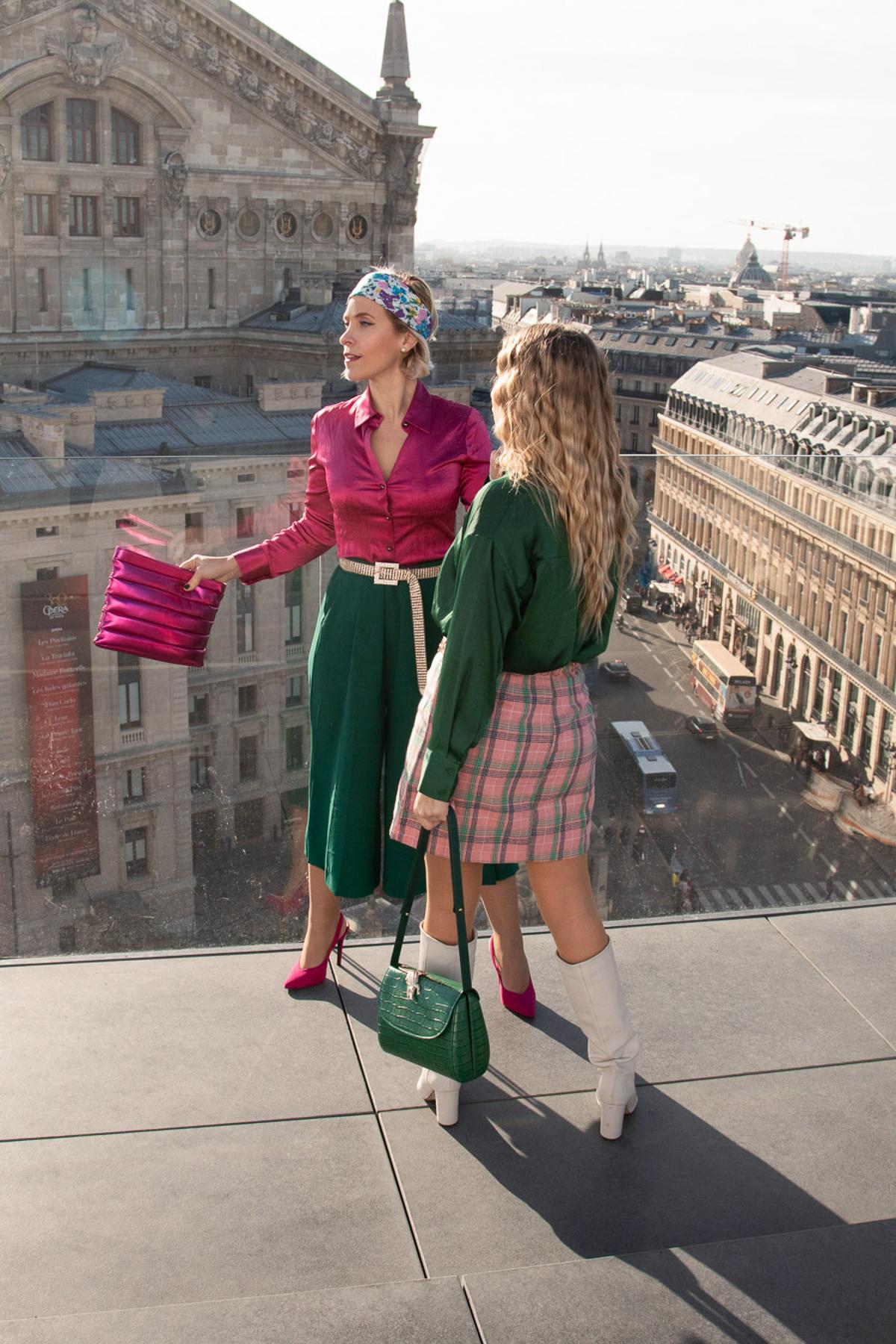 Comment porter le vert & rose ? Duo look avec «Soyons Élégantes» !